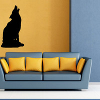 Wall Decals Vinyl Decal Sticker Wall Murals Wall Decor Wolf Howls (OS278)