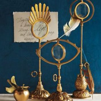 Gilded Magnifying Glass by Anthropologie