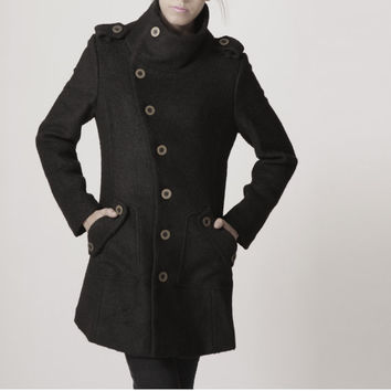 winter coat black coat cashmere coat wool coat winter by FM908