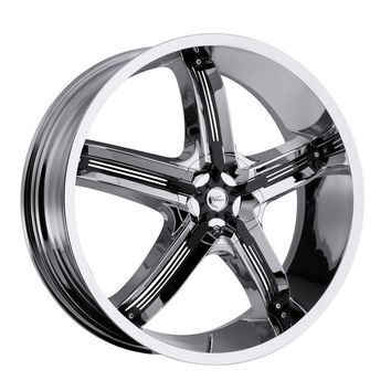 MILANNI - 459 bel-air 5 - 17 Inch Rim x 7 - (5x4.5/5x4.75) Offset (18) Wheel Finish - chrome with black inserts