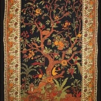 Tree of Life - Black and Gold - Tapestry