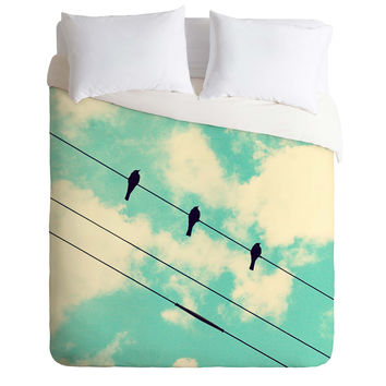 Shannon Clark Three Little Birds Duvet Cover
