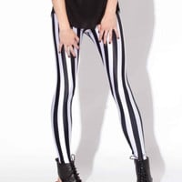 Beetlejuice Striped Leggings