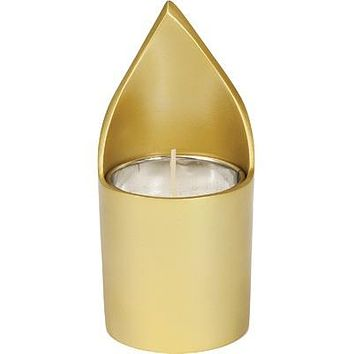 Memorial Candle Holder + Candle - Gold