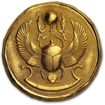 1 oz Hand-Poured Gold Round - Scarab Beetle
