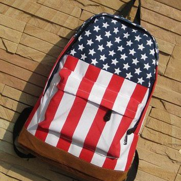 [grd03072]Cool The Stars And The Stripes Backpack Bag