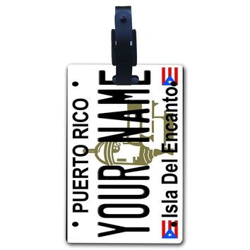 BleuReign(TM) Personalized Custom Name State License Plate Luggage Tag with Strap ALL STATES AVAILABLE