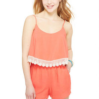 Solid Lampshade Romper