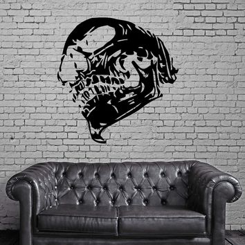 SKULL HUMAN BONES SKELETON Wall MURAL Vinyl Art Sticker Unique Gift M231