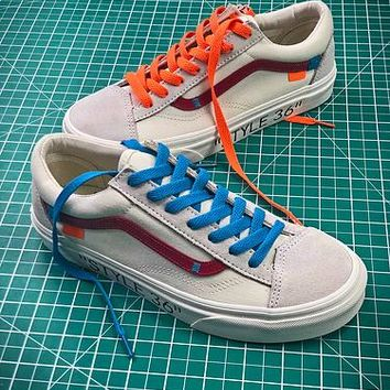 Off White X Vans Vault Og Style 36 Style 4 Low Canvas Shoes - Best Online Sale
