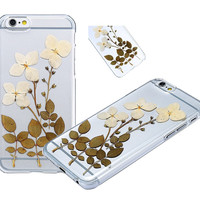Case for Iphone 6S,Fifine® TPU Case for Iphone 6,custom Purple Floral Real Pressed Flowers Phone Case for Iphone 6/6S 4.7'(309-Iphone 6 4.7 Inch)