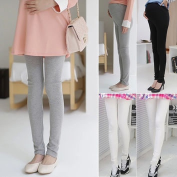 Fashion Women's Slim Adjustable Pregnant Maternity Leggings Pants Comfortable  F_F = 1901664708