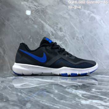 DCCK2 N818 NIKE FLEX CONTROL II Mesh breathable running shoes Black Blue