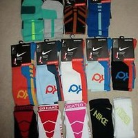 Nike Elite 2.0 KD Sequalizer Basketball Crew Socks Stripe Volt (1-Pair) kids