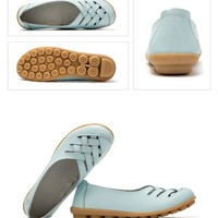new women fashion solid soft loafers size 75859