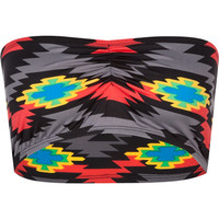 Neon Tribal Bandeau Black Combo  In Sizes