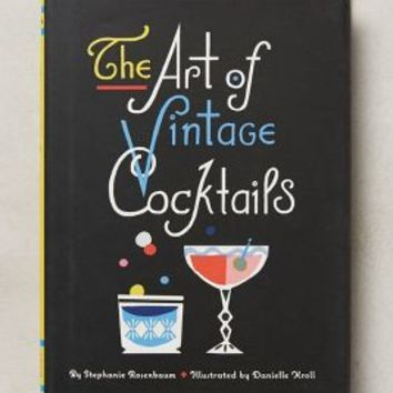 The Art Of Vintage Cocktails by Anthropologie Black One Size House & Home