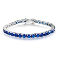 Bling Jewelry Simple Blue Bracelet