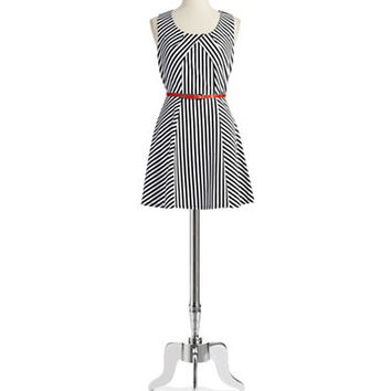 Ark & Co Striped Fit and Flare Dress