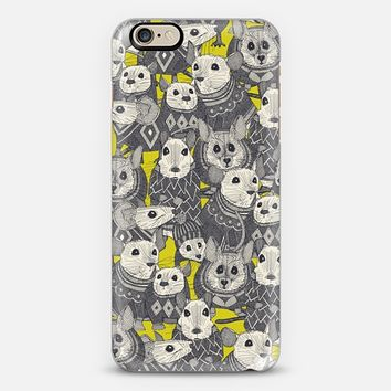 sweater mice chartreuse iPhone 6 case by Sharon Turner   Casetify