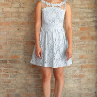 Viktoriya Lace Dress - Grey