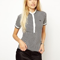 Fred Perry For The Amy Winehouse Foundation Print Stripe Shirt