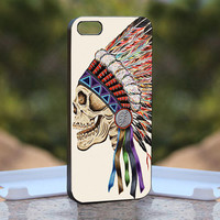Death Skeleton Side Head  - Design available for iPhone 4 / 4S and iPhone 5 Case - black, white and clear cases