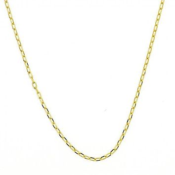 Gold Layered Basic Necklace, Rolo Design, Golden Tone