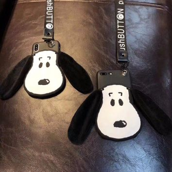 Cute Dog Rope 3D iPhone Case for 7 8 Plus 6 6S Plus X XS XR Max