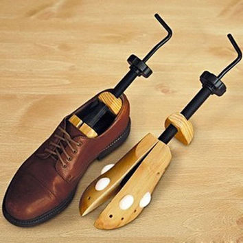 2Pcs Unisex Wooden Adjustable Shoe Stretcher