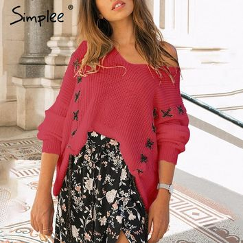 Drawstring Cross Laced Batwing Sleeve Pullover Sweater