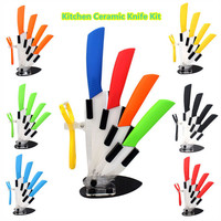 "High Quality Kitchen Ceramic Knife set 3"" 4"" 5"" 6"" inch Zirconia White Blade Paring Fruit Vege Cooking Knife Ceramic Knives set"