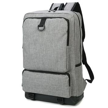 Student Backpack Children 2018 Men Male Canvas Three Colors Big Capacity College School Student Backpack Casual Rucksacks Travel Bag Gray Unisex AT_49_3