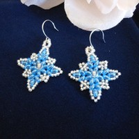 Glistening Snowflake Earrings