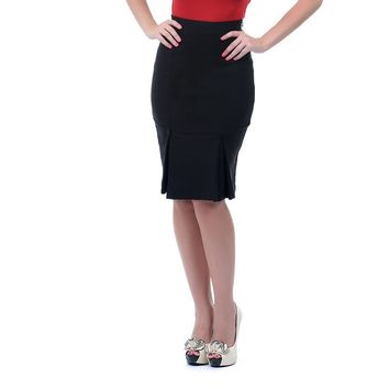 Voodoo Vixen Vintage Style Office Lady Bombshell Fitted Wiggle Pencil Skirt