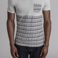 SS Tribe Printed Heather Panel V Neck Tee