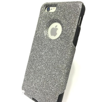 Custom iPhone 6 (4.7 inch) Glitter Otterbox Commuter Cute Case,  Custom  Glitter Graphite / Black Otterbox Color Cover for iPhone 6
