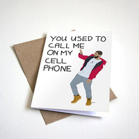 Drake Inspired Greeting Card - Hotline Bling - Call Me On My Cellphone - I Miss You Customizable - 5 x 7