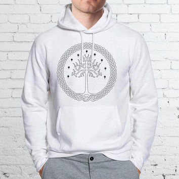 White Tree Gondor Lord of The Rings Unisex Hoodies - ZZ Hoodie