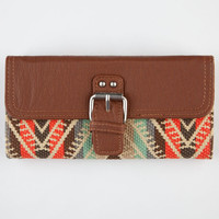 Ethnic Print Flapover Wallet Brown Combo One Size For Women 21447544901
