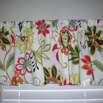 Cafe Curtain Valance / Avery Garden - Kitchen, Bath, Laundry, Bedroom, living room-Window Treatment
