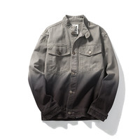 Men's Fashion Autumn Boyfriend Gradient Denim Jacket [7929488835]