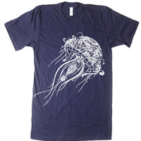 Men's Jellyfish T Shirt - American Apparel - XS S M L XL and XXL (28 Color Options)