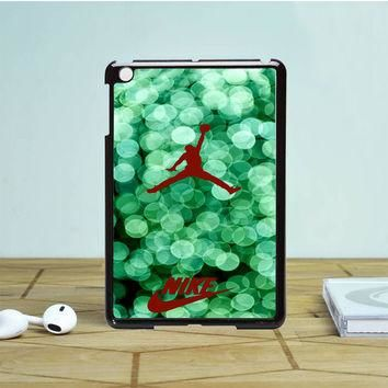 Red Nike Air Jordan Green Glitter iPad Mini Case | Tegalega
