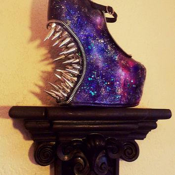 "Curved ""Intergalactic Planetary II"" Spike Heelless Galaxy Wedges"