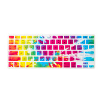 Multi-Color Tie Dye Silicone MacBook Keyboard Cover