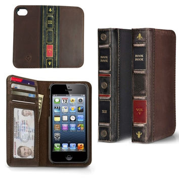 Retro Style Vintage BOOK L Oldeather Case Flip Cover Wallet for Iphone 4Iphone 4SIphone 5Iphone 5S = 1946199108