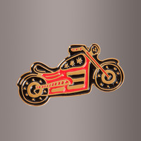 Motorcycle Biker Enamel Clothing Pin by Banana Bones