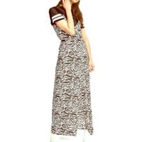 H&M Zebra Print Maxi Dress