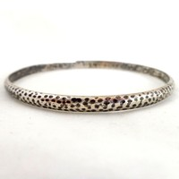 Early STERLING SILVER Hammered Bangle Bracelet